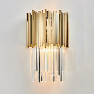 Image 4 - Lámpara de pared de cristal de lujo, luces de pared modernas, brillo de AC110V 240V, iluminación para sala de estar y dormitorio