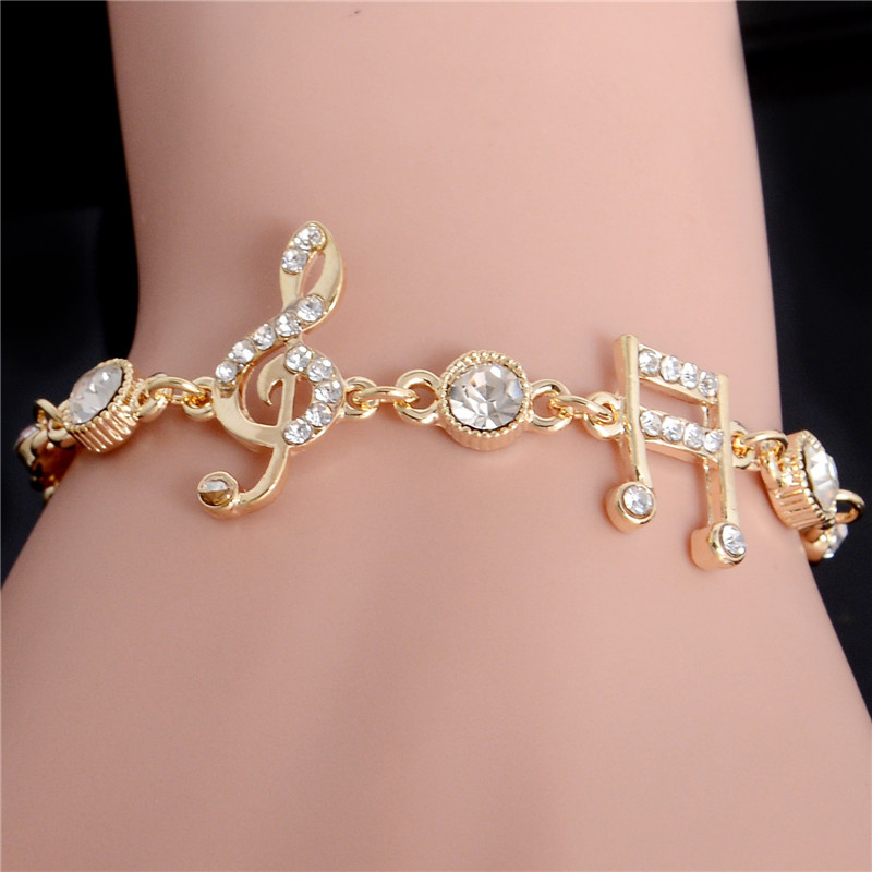 H hyde luxury jewelry gifts gold color musical notes for Decor jewelry