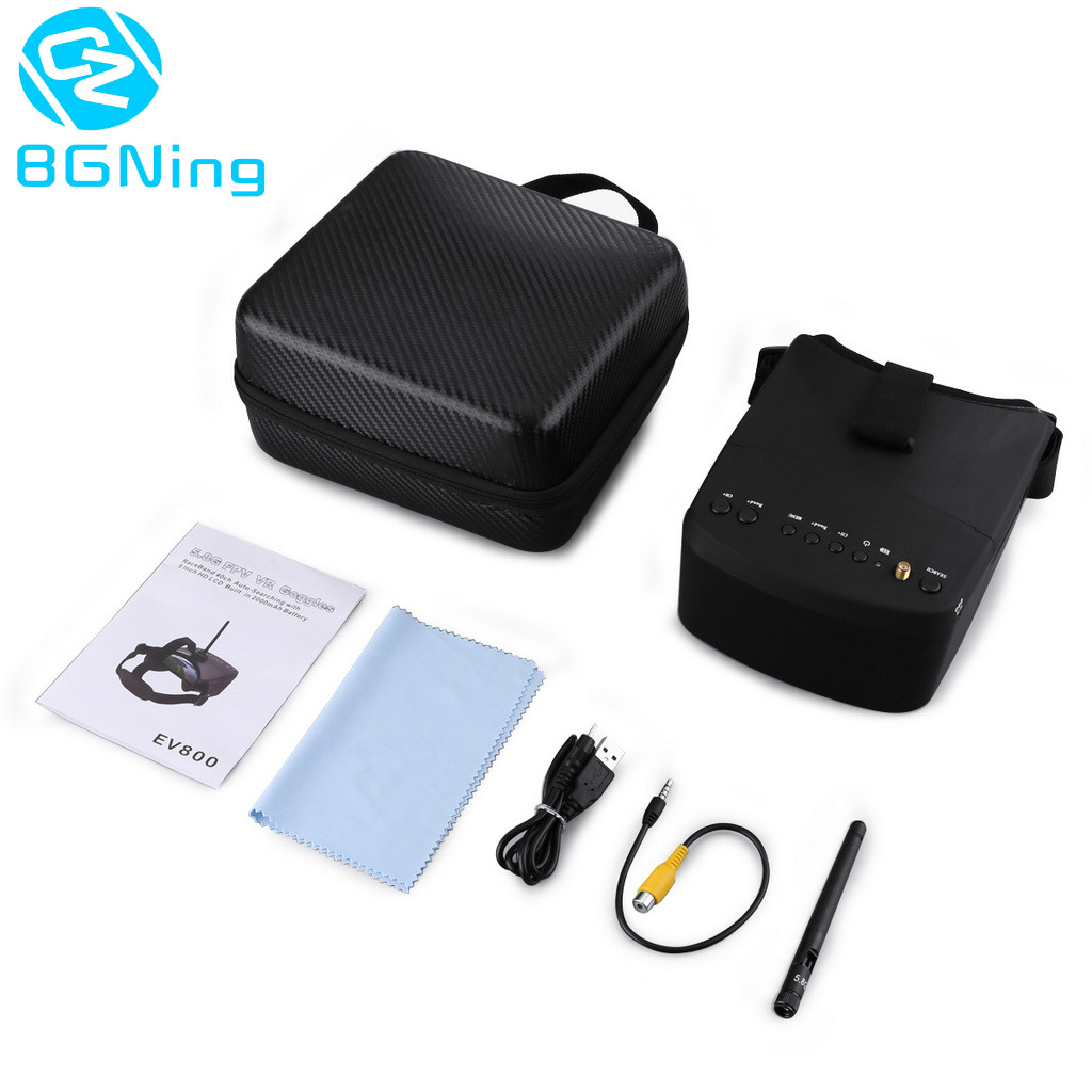 New EV800 5 Inches 800x480 FPV Video Goggles 5 8G 40CH Raceband Auto Searching Build in