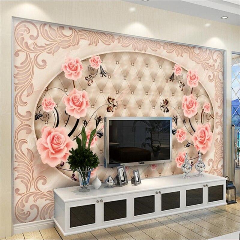 Beibehang Kundenspezifisches Foto Tapete Wandbild 3D Fliesen Parkett Marmor Relief TV Wohnzimmer Hintergrund Wand Papel De