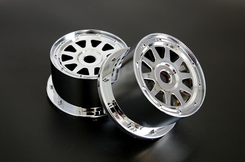Chrome Plastic baja Rear Wheel hub set for 1/5 HPI Baja 5B Parts Rovan KM 2.0 3.0(2*rear) hpi baja 5b 2 0