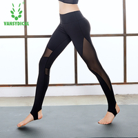 Women Yoga Leggings Compresion Tights Stirrup Leggings Yoga Patchwork Quick Dry Fitness Women Workout Leggings
