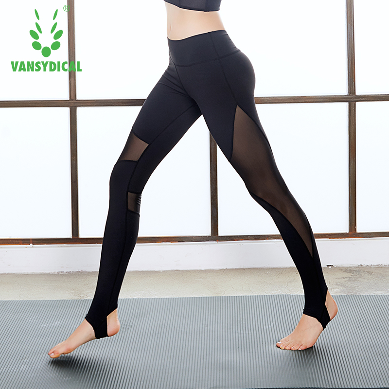Women Yoga Leggings Compresion Tights Stirrup Leggings Yoga Patchwork Quick Dry Fitness Mesh Women Workout Leggings