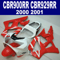 Белые, красные обтекатели комплект для Honda cbr900rr 929rr 2000 2001 cbr929rr 00 01 Обтекатели всех пластмассовых деталей (EMS бесплатно) CN09