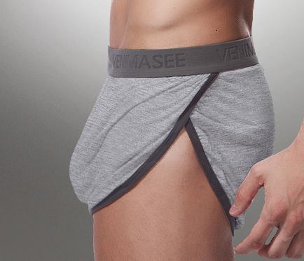Pantalones Aro bragas masculinas tronco modal más tamaño transpirable pantalones cortos sueltos pantalones de pijama de salón pantalones tenedor hombres la ropa interior boxer