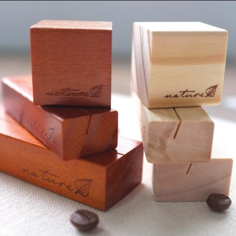 Desk Accessories & Organizer 3pcs/lot Retro Wooden Message Holder Note Card Message Holders Desk Accessories Office School Supplies Korea Stationery 1639 Packing Of Nominated Brand