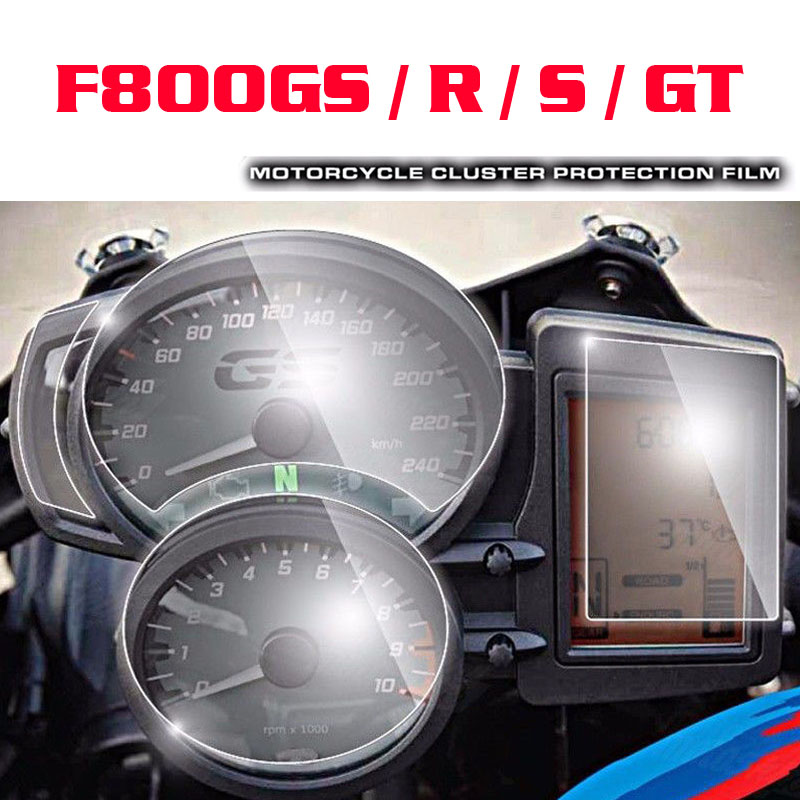 For BMW F800GS / R / S / GT Cluster & GPS Navigator Scratch Protection Film Screen Protector
