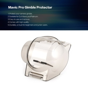Image 5 - שקוף מצלמה עדשת מגן מגן Gimble מגן כיסוי הוד כובע מקרה עבור RC DJI Mavic פרו/פלטינה Drone חלקי