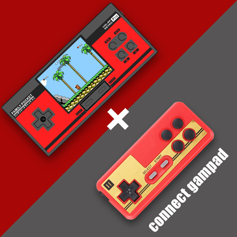 Image 4 - RS88 Family Pocket Game Console Retro Portable Mini Handheld Game Player Built in 348 Classic Games 3.0 Inch Color LCD For NES G-in Handheld Game Players from Consumer Electronics