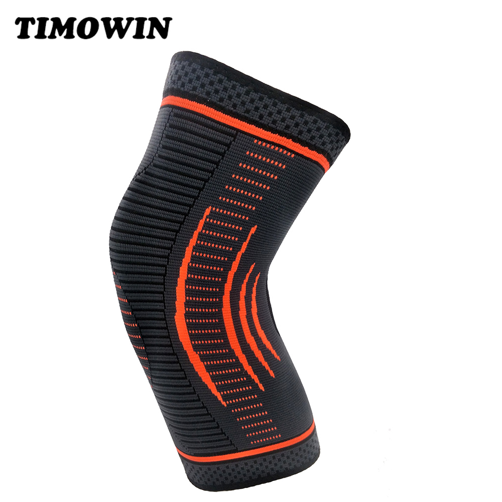 1 Pcs Non Slip Knee Protector Sleeve Support Kneepad TIMOWIN Brand Knee Pads for Jogging, Running, Riding And Joint Pain Relief