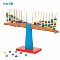 Montessori Baby Kinder Spielzeug Lehrmittel Holz Balance Strahl Vertikale Stangen Stapeln Waagen Vorschule Brinquedos Juguetes|Mathe-Spielzeug|Spielzeug und Hobbys -