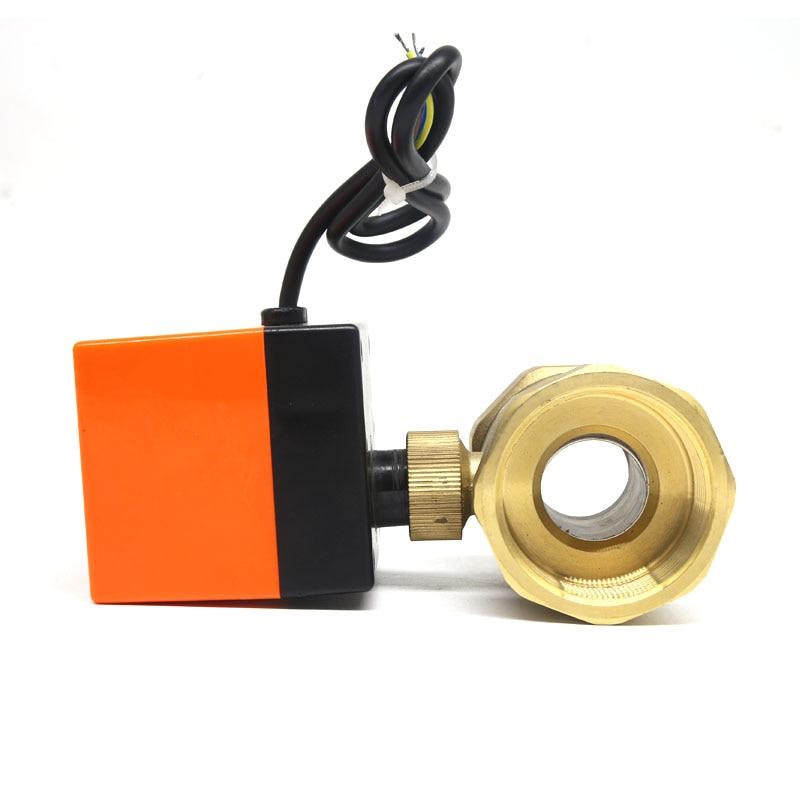 DN20 G 3 4 AC220V electric actuator brass ball valve Cold hot water Water vapor heat