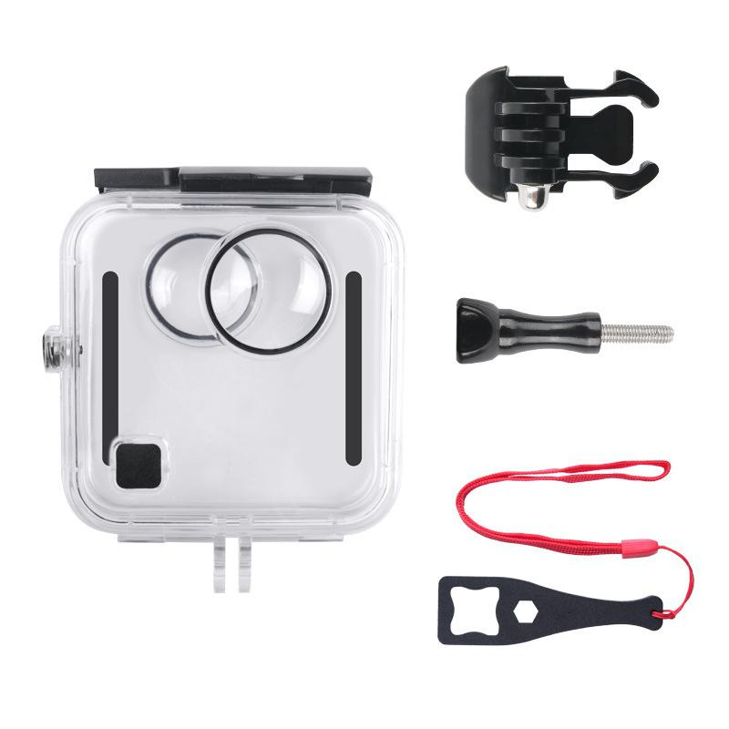 EastVita For GoPro Fusion 360-degree Camera Waterproof Housing Shell Housing Case 45M Underwater Diving Box Protective Case R25
