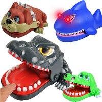 Новый динозавр бульдог крокодил, акула рот дантиста кусает за палец игра забавная Новинка кляп игрушка для детей играть забавные игрушки