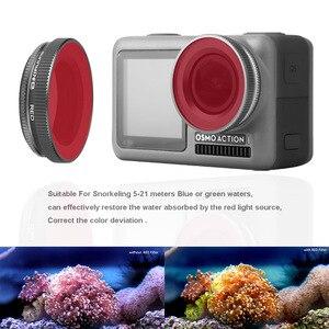 Image 3 - Für OSMO ACTION Kamera Filter Tauchen Rot Magenta Rosa Filter Für DJI Osmo Action UV ND4/8/16 /32 PL Optische Glas Objektiv Zubehör
