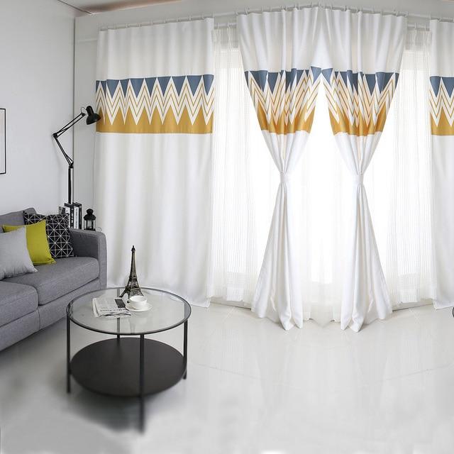 Nordic disegno geometrico semplice mosaico moderno tende oscuranti ...