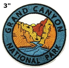 Custom Embroidered patches hiking travel scene Patch Souvenir badge emblem factory OEM customize with your design no MOQ