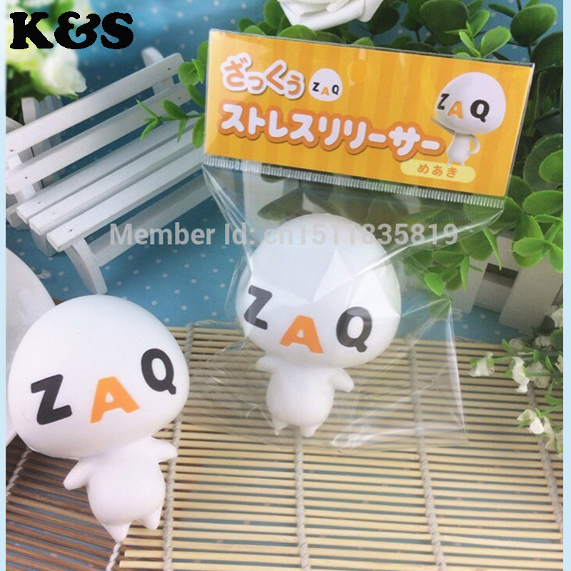 Rare Squishy Package : 20~27Day Delivery 1pc 8cm Funny ZAQ Squishy Retail original package 2015 New Rare Squishies Toys ...