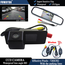 FUWAYDA 4.3 Inch Long Mirror Monitor Wireless CCD Car RearView Camera For Chevrolet Aveo Trailblazer Opel Mokka Cadillas SRX CTS