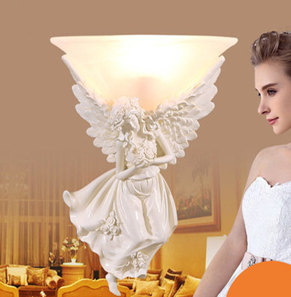 Angels Bedroom Modern Wall Light Resin Materials Wall Sconces Lighting Included Led Wall Light Contains LED Bulb Free Shipping contracted modern wall light sitting room corridor led wall lamp wall sconces lighting contains bulbs free shipping