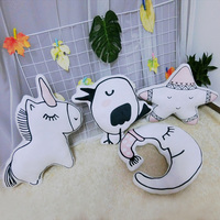 cute soft plush baby toy pillow lovely star moon bird unicorn stuffed animal gifts for kids friends christmas gifts home decor