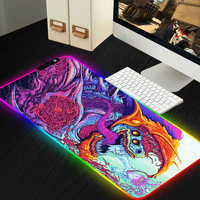 800*300 Large RGB Mouse Pad Gamer CS GO Mouse Mat Locked LED Lighting Rubber Gaming Mousepad XL Grande Anti slip For Computer PC