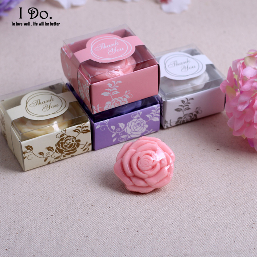 free shipping rose design soap wedding favors and gifts for guests souvenirs decoration event party