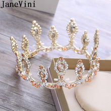 JaneVini Princess Crowns Crystal Beaded Women Sweet 16 Party Decorations  Bridal Wedding Crowns Tiaras Hair Ornaments Bride 2018 8e531ed8ec76