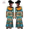2017 Африканские Женская Одежда Бренда Африканских Платье 6XL Воск Пользовательские одежда Женщин Африканского 2 шт. для Женщин Юбка Набор BRW WY587