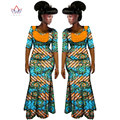 2017 African Women Clothing Brand African Vestido 6XL Wax Custom Clothing Women African 2 pieces for Women Skirt Set BRW WY587