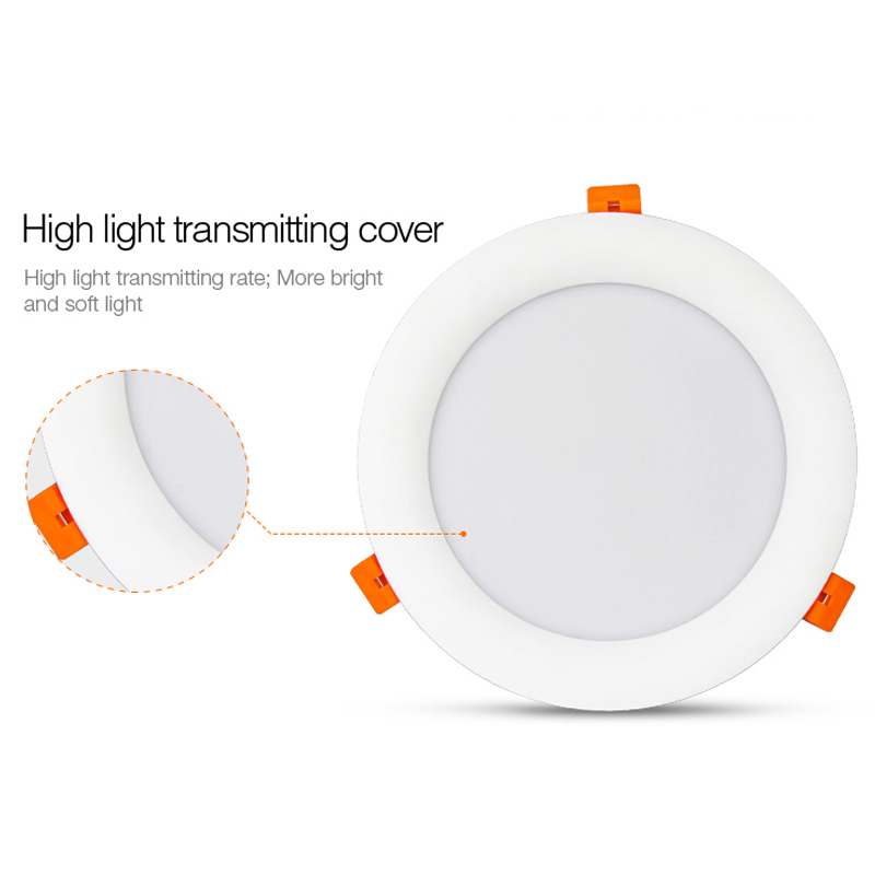 New milight 18W RGB+CCT LED Downlight dimmable smart Indoor living room light AC 220V can Mobile phone/2.4G remote/voice control