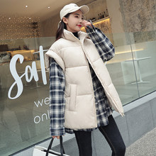 2019 autumn and winter vest coat women long large size new fashion vest jacket female outerwear thick loose parka jacket womens(China)