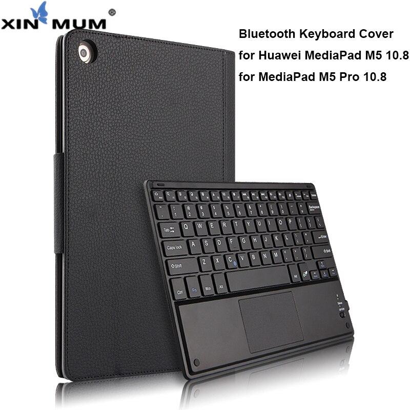 Sans fil étui pour clavier bluetooth pour Huawei MediaPad M5 10.8 Housse de protection En Cuir Tablette Mediapad M5 Pro 10 10.8