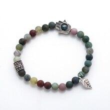 New arrival!Fashion 6mm Natural stones elastic bracelets Jewelry bracelet Nature accessories woman wholesale free ship