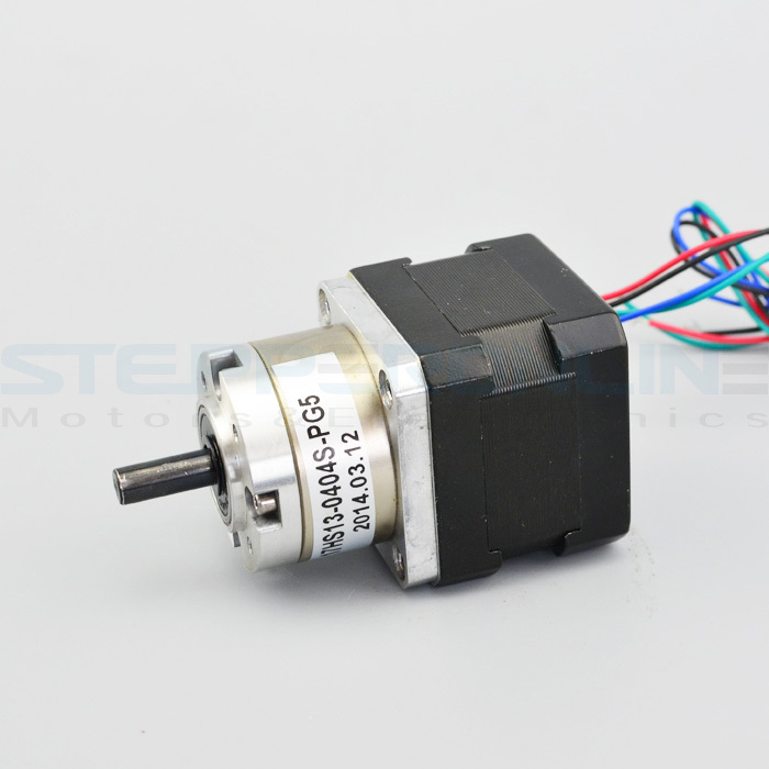 Gear ratio 5:1 Planetary Gearbox stepper motor Nema 17 Planetary Gearbox 3d printer motor 17HS13-0404S-PG5 gear dc motor planetary reduction gearbox ratio 4 1 nema 23 120w brushless dc motor 24v bldc motor