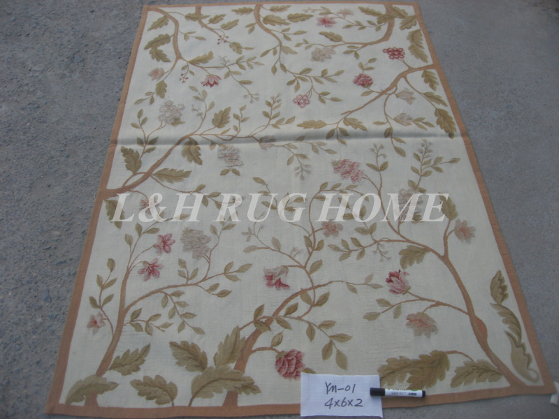 Aliexpress Com Free Shipping 4 X6 French Woolen Aubusson Rug Handmade 100 New Zealand Wool Rugs And Carpets Whole Retail From