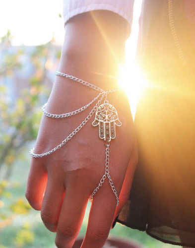 Hamsa Hand Fatima Luck Bracelet Slave Chain Hand Harness for Women Girl Gift Party Weeding Jewelry