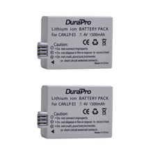 DuraPro 2Pc 1500mAh 7.4V LP-E5 LPE5 LP E5 Rechargeable Camera Battery For Canon EOS Rebel XS, Rebel T1i ,Rebel XSi ,1000D,500D
