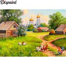 Dispaint Full Square/Round Drill 5D DIY Diamond Painting Chicken house Embroidery Cross Stitch 3D Home Decor A10629
