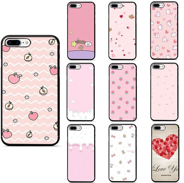 Pink Wallpaper Cute Peach For Iphone X Xs Max Xr Xs Tpu Silicone