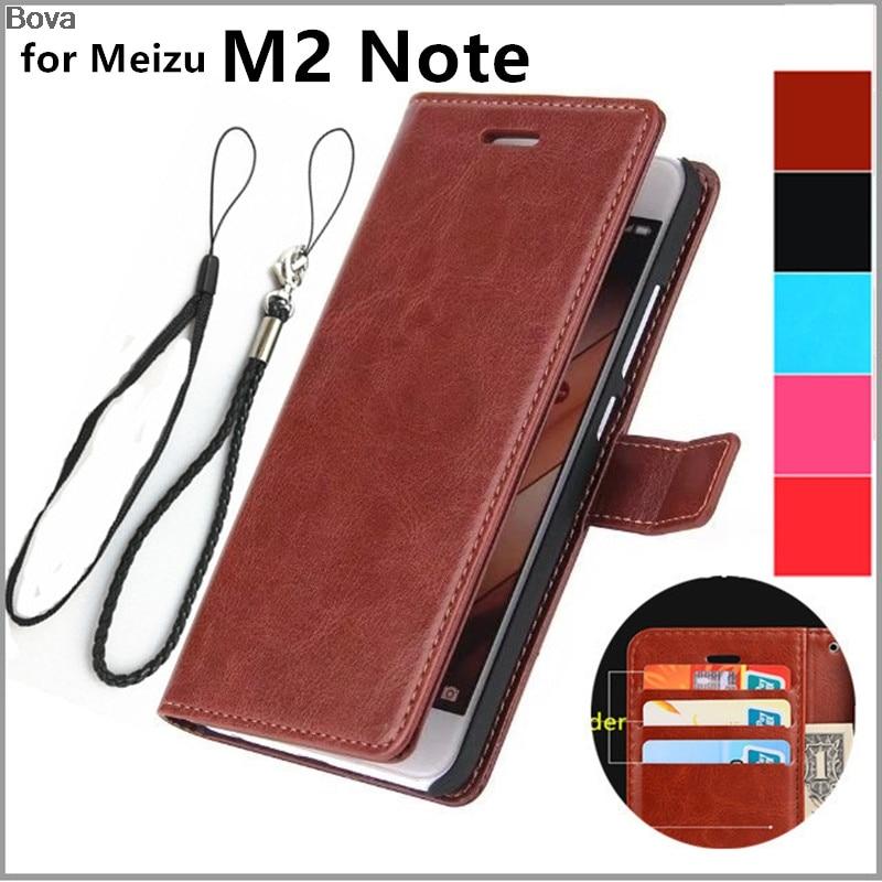 MEİZU M2 NOTE M571 Pu dəri qutusu üçün ultra nazik cüzdan flip - Cib telefonu aksesuarları və hissələri - Fotoqrafiya 1