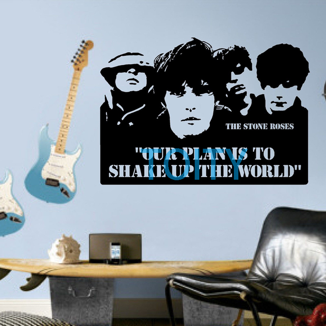 The Stone Roses Ticket Quote Wall Room Decor Art Vinyl Decal Music Sticker Mural H57cm X W80cm