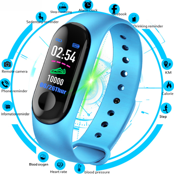 M3 Intelligente Braccialetto di Vigilanza Della Fascia Inseguitore di Fitness Messaggi Promemoria Schermo a Colori Impermeabile di Sport Wristband Per Le donne degli uomini