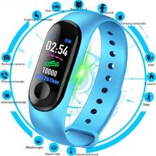 Reloj inteligente M3 para hombre y mujer, pulsera deportiva resistente al agua con pantalla a Color y recordatorio de mensajes