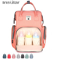 Insular Brand New Fashion Mummy Maternity Diaper Bag Large Capacity Baby Nappy Bag Travel Backpack Mother