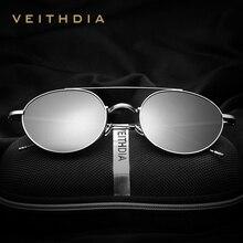 V3617 VEITHDIA Brand Unisex Fashion Sun Glasses Polarized Coating Mirror Driving Sunglasses Round Male Eyewear For Men