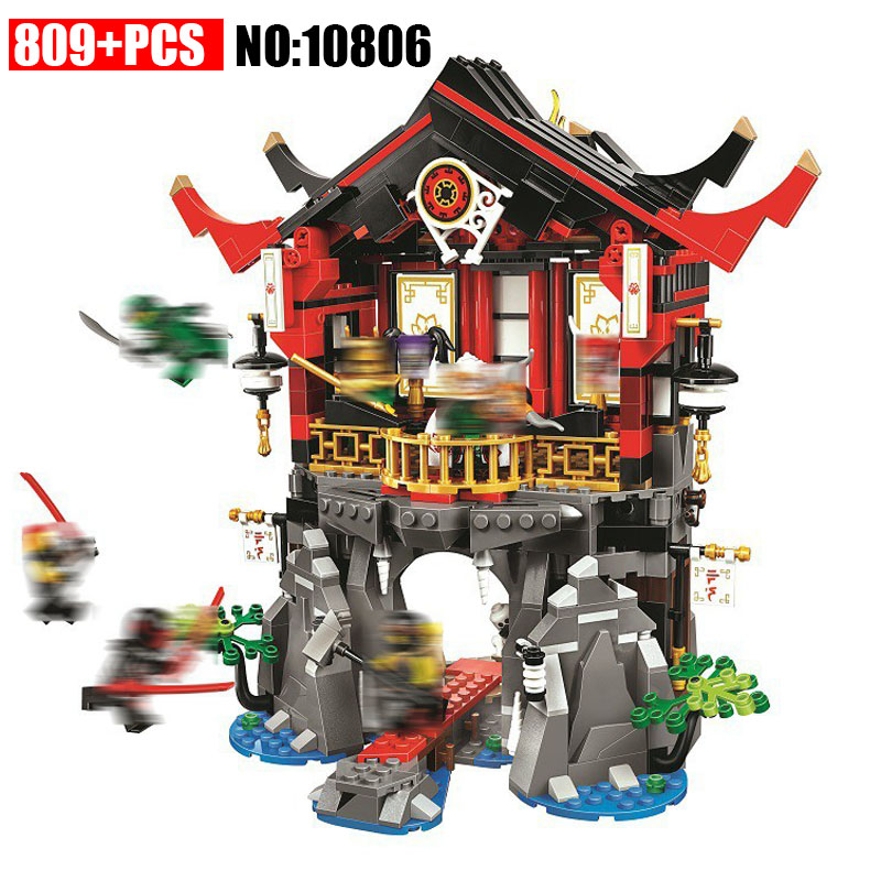 New 10806 809pcs Legoinglys Ninjagoings Series The Temple of Resurrection Model Building Block Brick Toys For Children 70643 new lp2k series contactor lp2k06015 lp2k06015md lp2 k06015md 220v dc