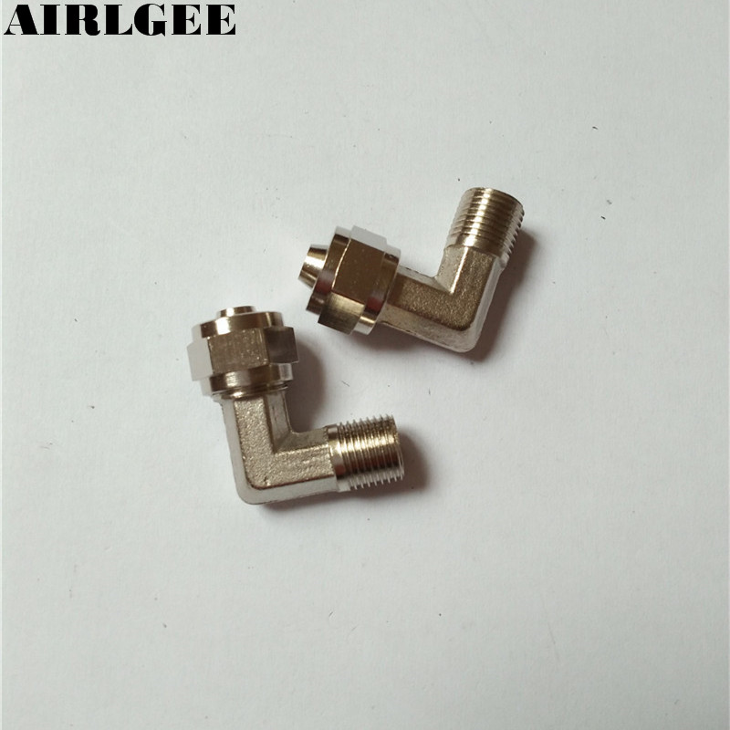 2 x 1/8 Male Thread 8mm Pipe Air Pneumatic L Shaped Quick Couplers 3 pieces 1 4 pt male thread to 12mm pipe air pneumatic quick coupler adapter