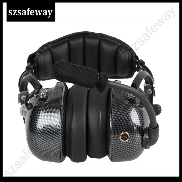 Aviation walkie talkie headset noi
