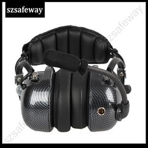 Image 3 - תעופה ווקי טוקי אוזניות רעש ביטול Heaphone עבור Kenwood Baofeng UV 5R 2 סיכות שתי דרך רדיו